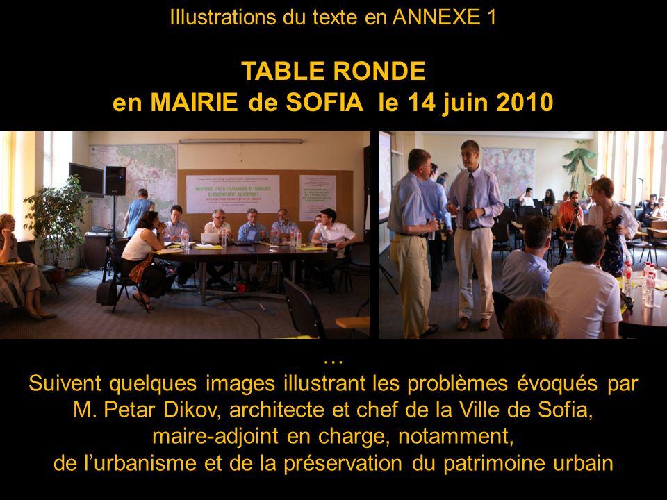 en MAIRIE de SOFIA le 14 juin 2010