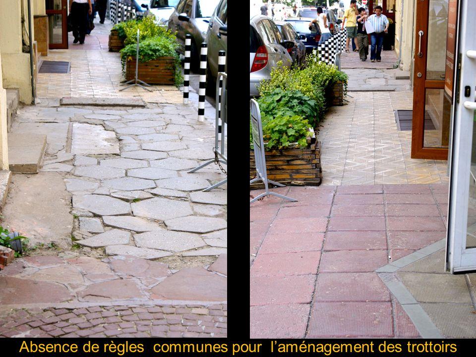 Absence de règles communes pour l'aménagement des trottoirs