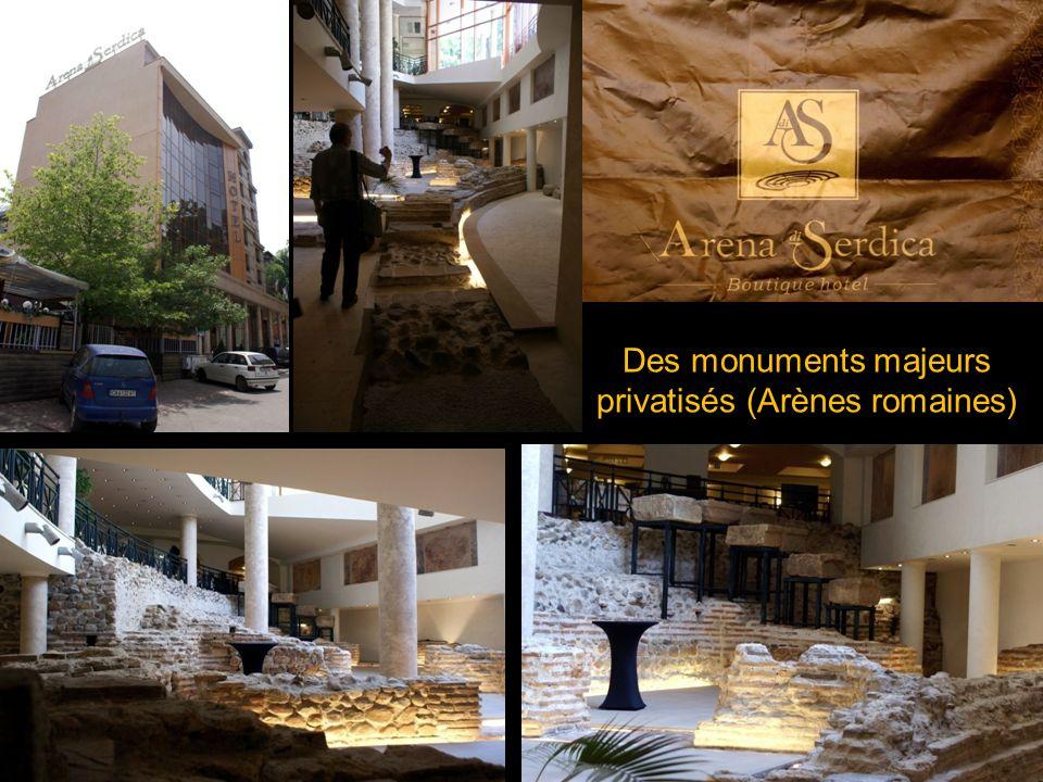 Des monuments majeurs privatisés (Arènes romaines)