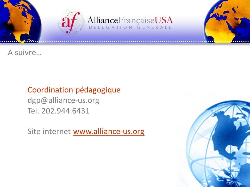 Coordination pédagogique dgp@alliance-us.org Tel. 202.944.6431
