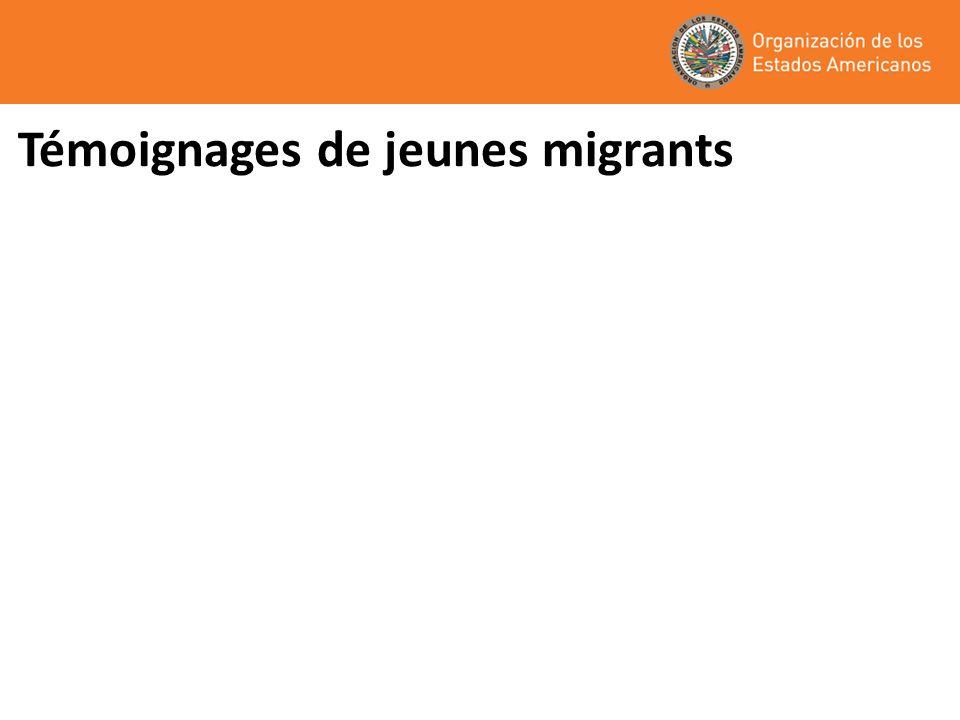 Témoignages de jeunes migrants
