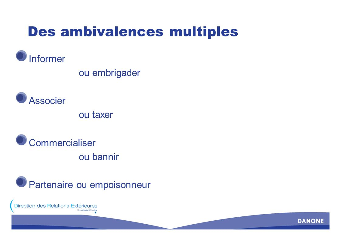 Des ambivalences multiples