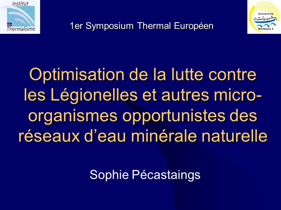1er symposium thermal européen Sophie Pécastaings