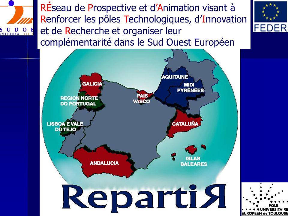 RÉseau de Prospective et d'Animation visant à Renforcer les pôles Technologiques, d'Innovation et de Recherche et organiser leur complémentarité dans le Sud Ouest Européen