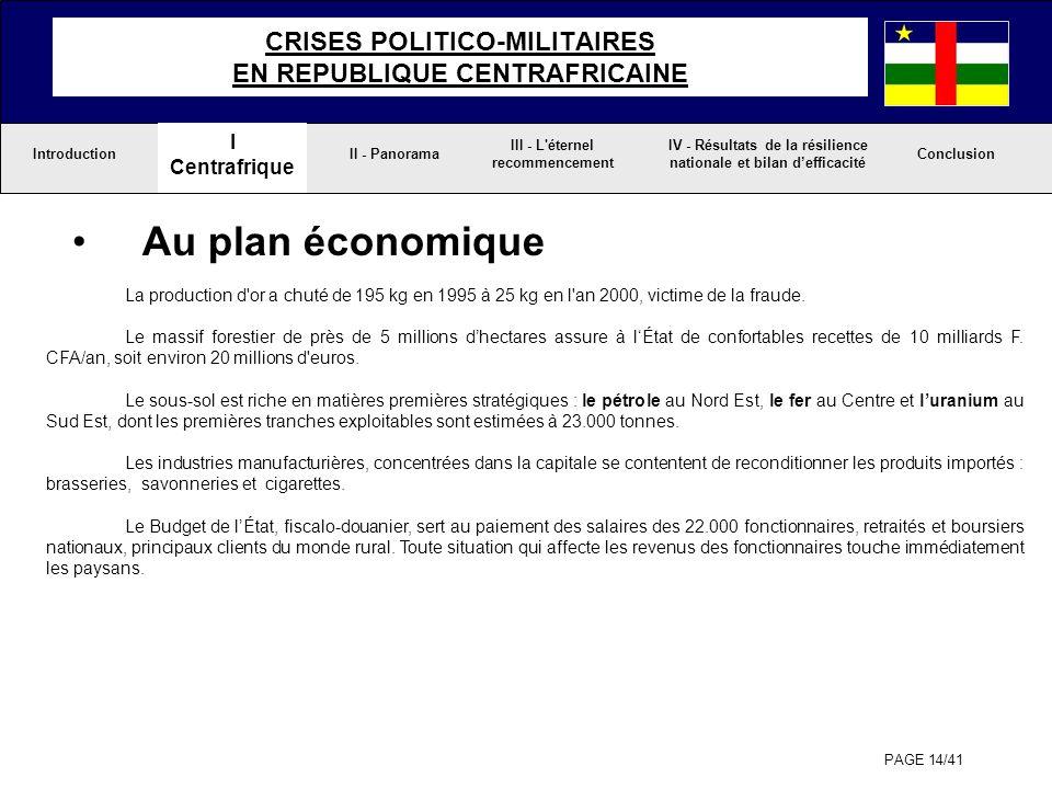CRISES POLITICO-MILITAIRES EN REPUBLIQUE CENTRAFRICAINE