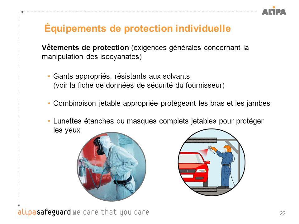 Équipements de protection individuelle