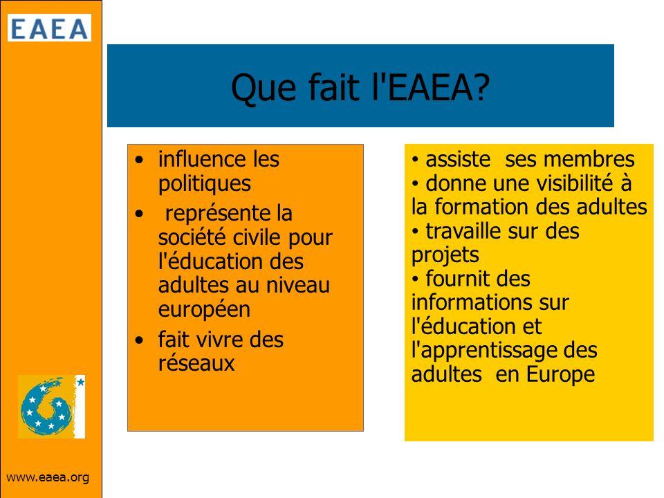 Que fait l EAEA influence les politiques