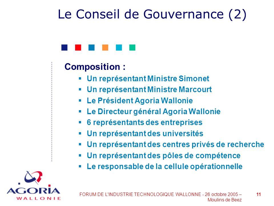 Le Conseil de Gouvernance (2)