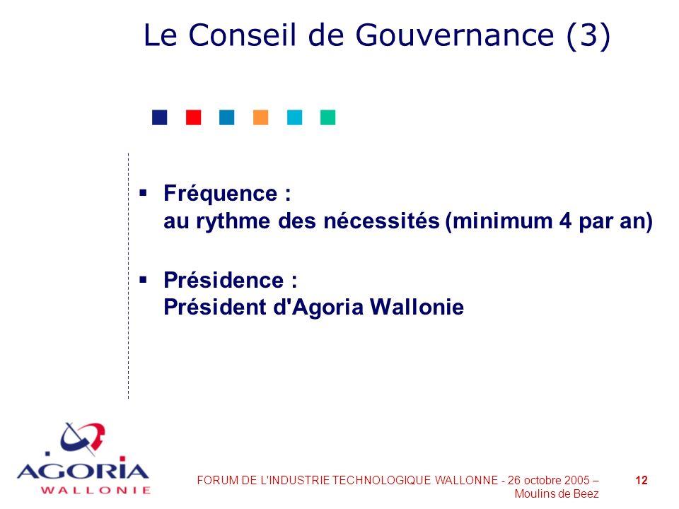 Le Conseil de Gouvernance (3)