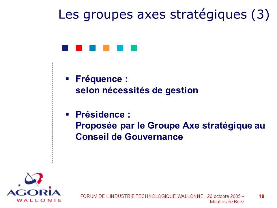 Les groupes axes stratégiques (3)