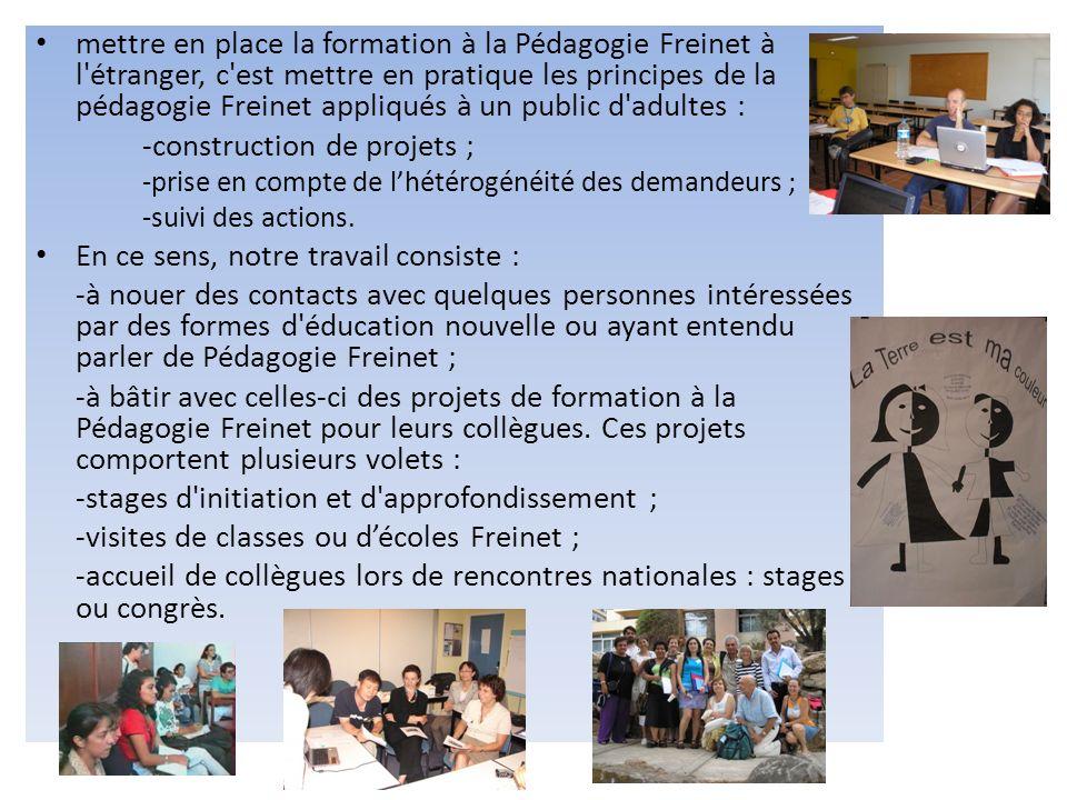 -construction de projets ;