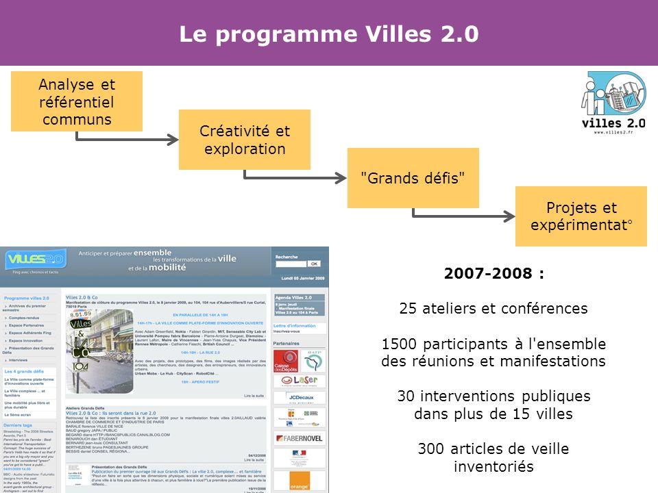 Le programme Villes 2.0 Analyse et référentiel communs