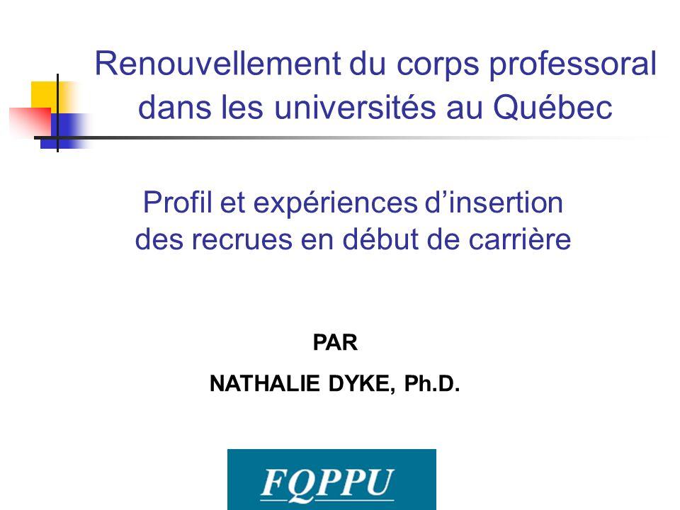 Renouvellement du corps professoral dans les universités au Québec