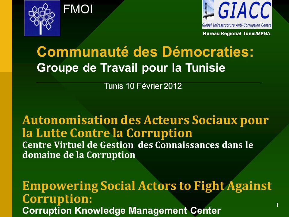 Communauté des Démocraties: Groupe de Travail pour la Tunisie