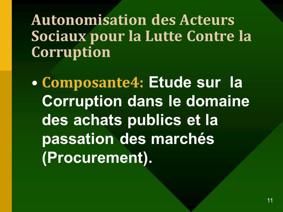 Autonomisation des Acteurs Sociaux pour la Lutte Contre la Corruption