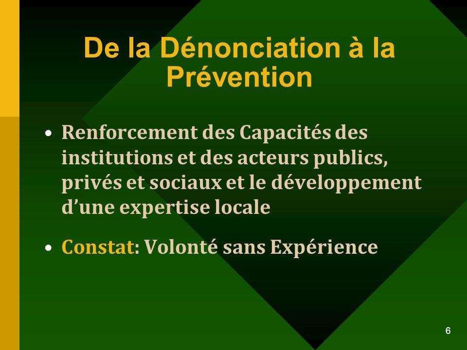De la Dénonciation à la Prévention