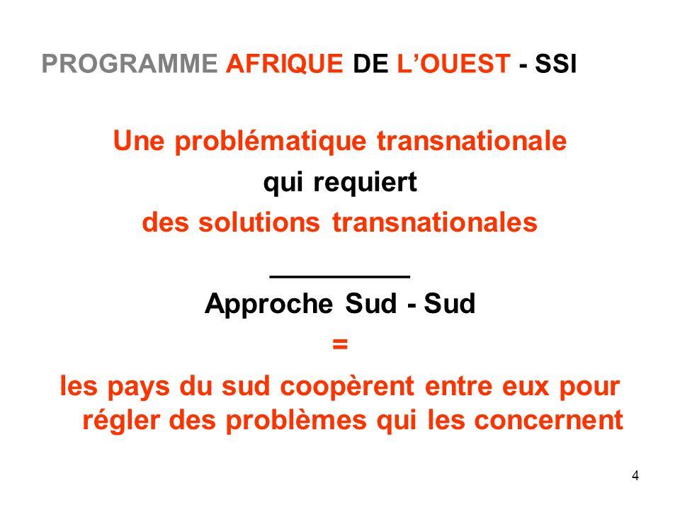 PROGRAMME AFRIQUE DE L'OUEST - SSI