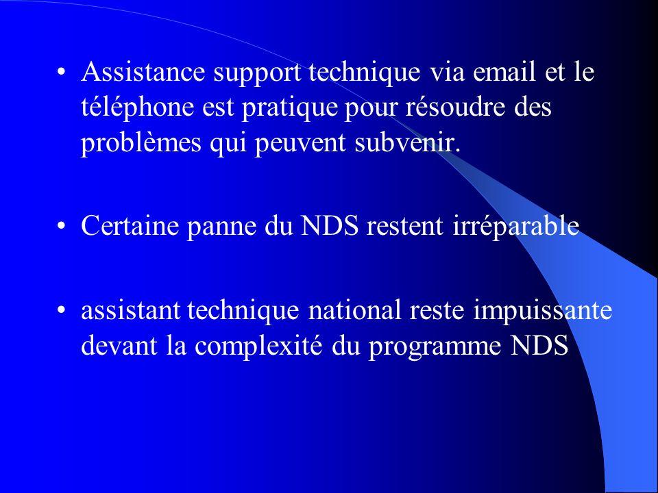 Assistance support technique via email et le téléphone est pratique pour résoudre des problèmes qui peuvent subvenir.