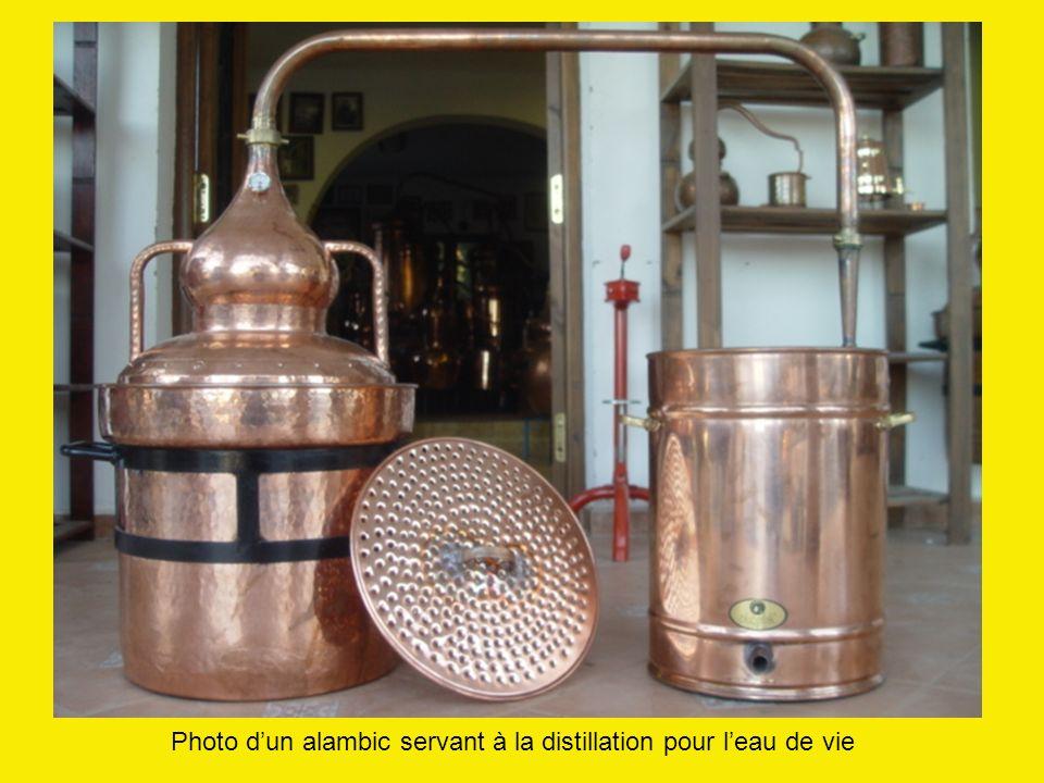 Photo d'un alambic servant à la distillation pour l'eau de vie