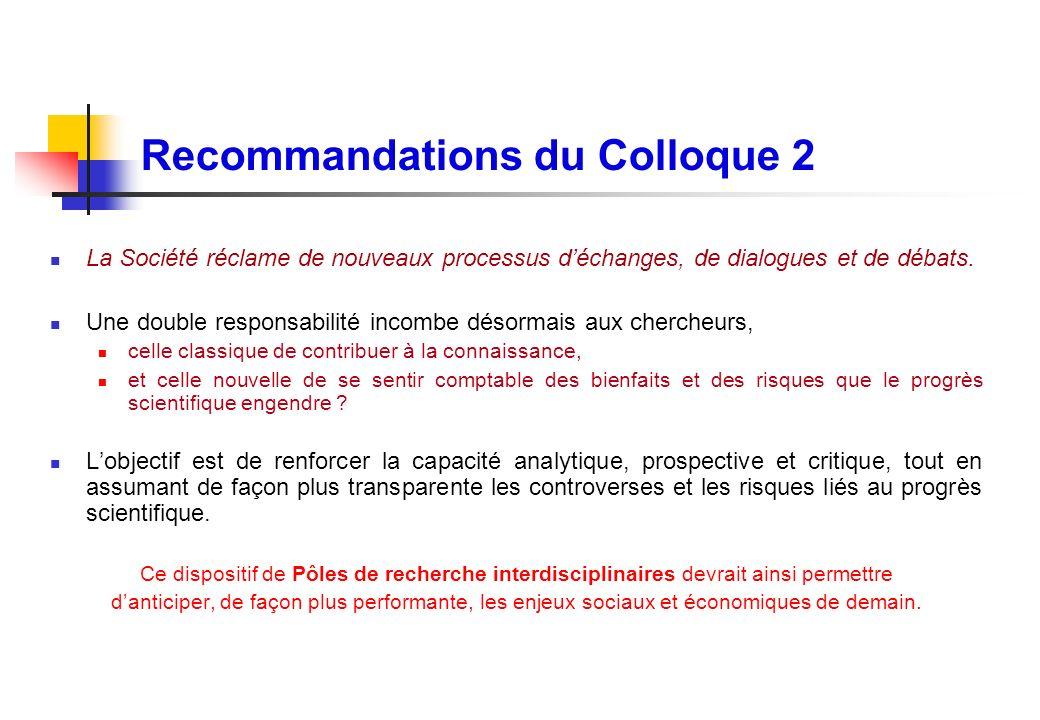 Recommandations du Colloque 2