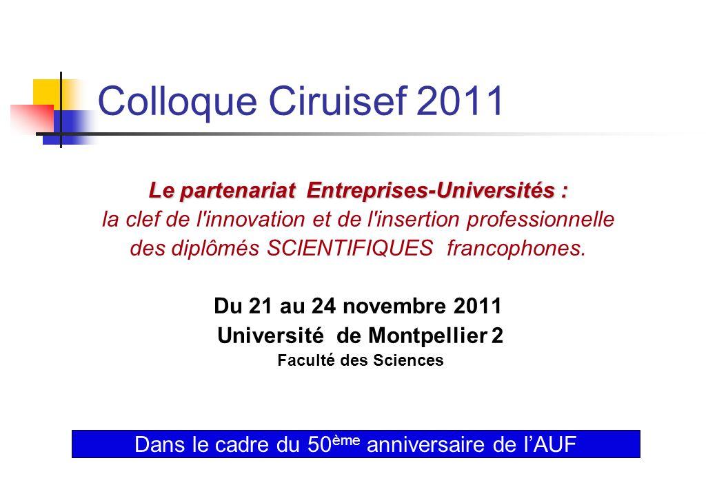 Le partenariat Entreprises-Universités : Université de Montpellier 2