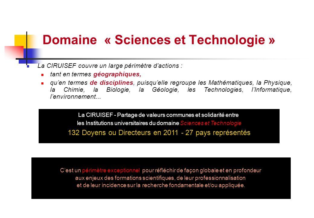 Domaine « Sciences et Technologie »