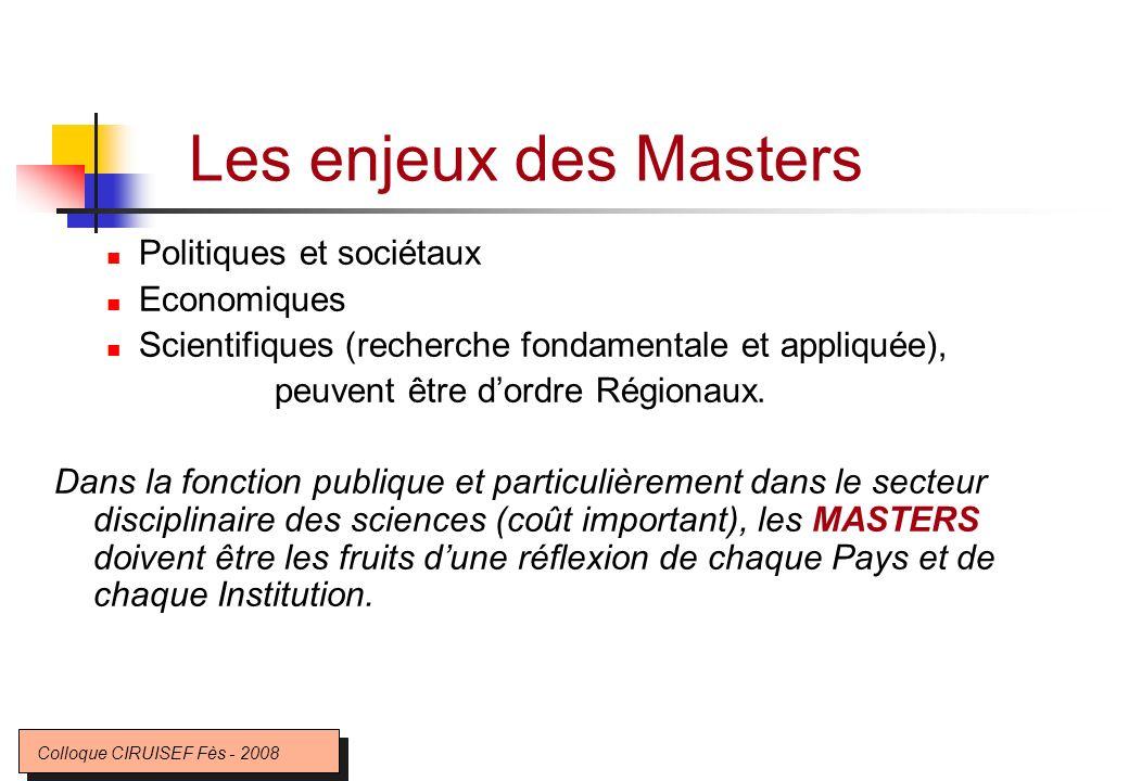 Les enjeux des Masters Politiques et sociétaux Economiques