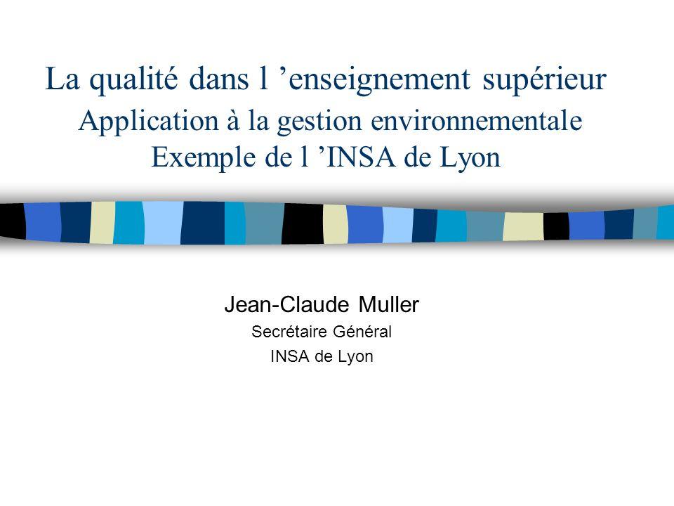 Jean-Claude Muller Secrétaire Général INSA de Lyon
