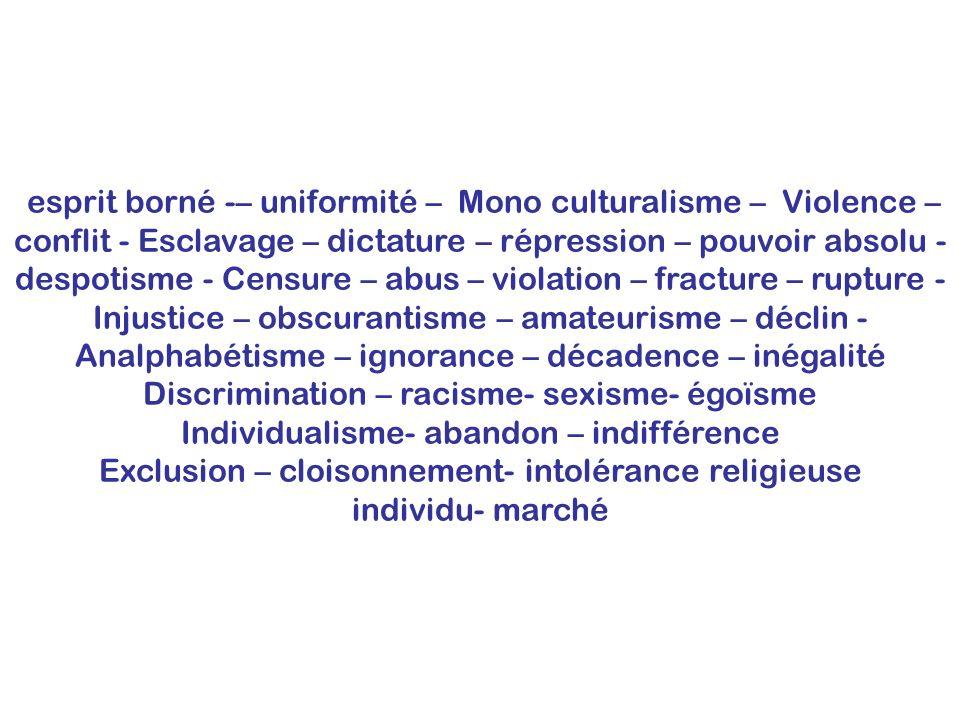 Injustice – obscurantisme – amateurisme – déclin -