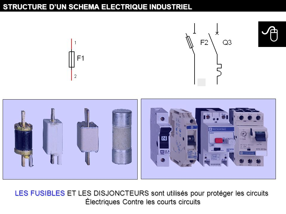 Électriques Contre les courts circuits