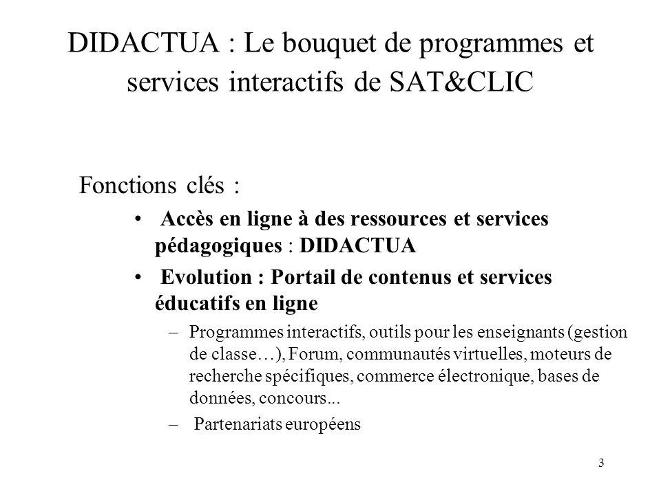 DIDACTUA : Le bouquet de programmes et services interactifs de SAT&CLIC