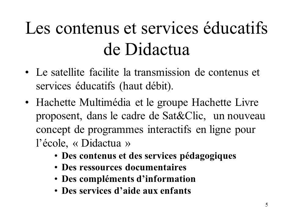 Les contenus et services éducatifs de Didactua