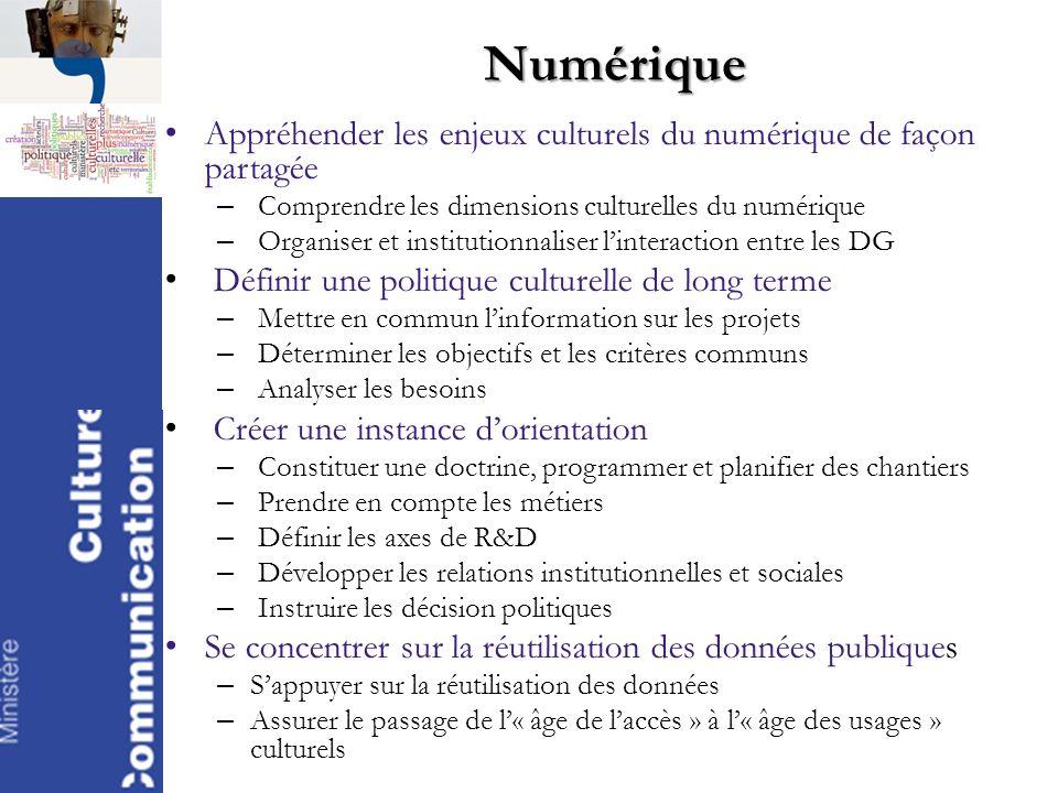 Numérique Appréhender les enjeux culturels du numérique de façon partagée. Comprendre les dimensions culturelles du numérique.