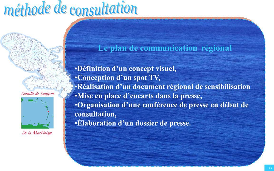 Le plan de communication régional