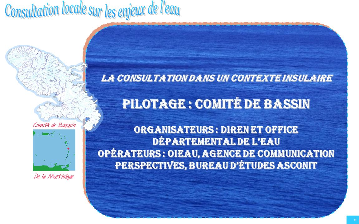 Pilotage : comité de bassin