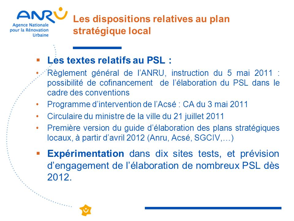 Les dispositions relatives au plan stratégique local