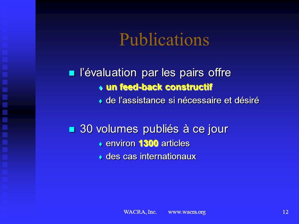 Publications l'évaluation par les pairs offre
