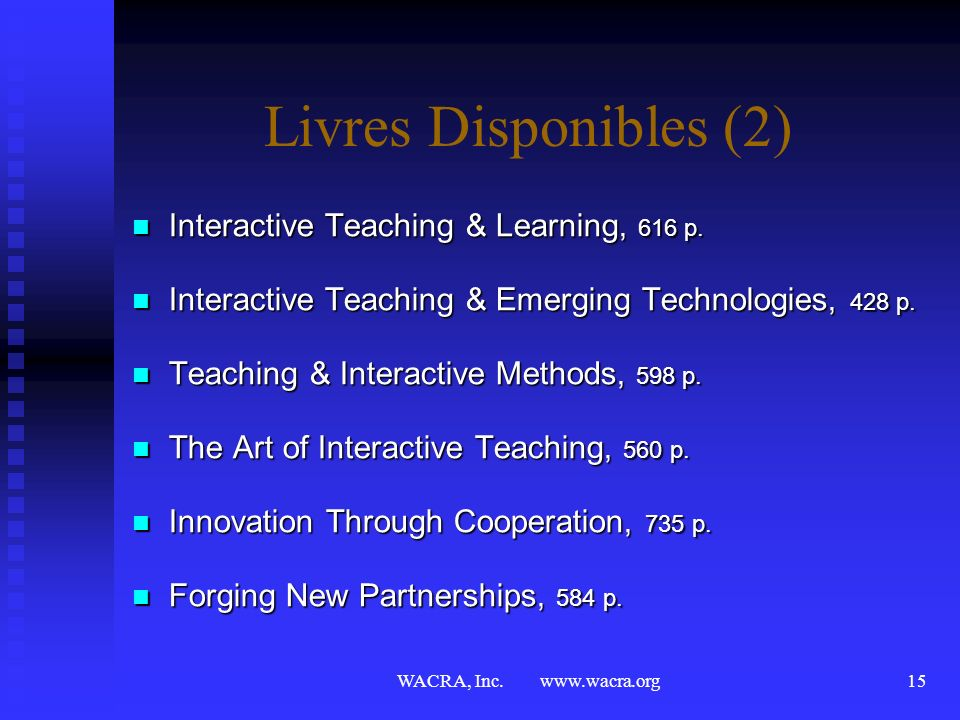Livres Disponibles (2) Interactive Teaching & Learning, 616 p.