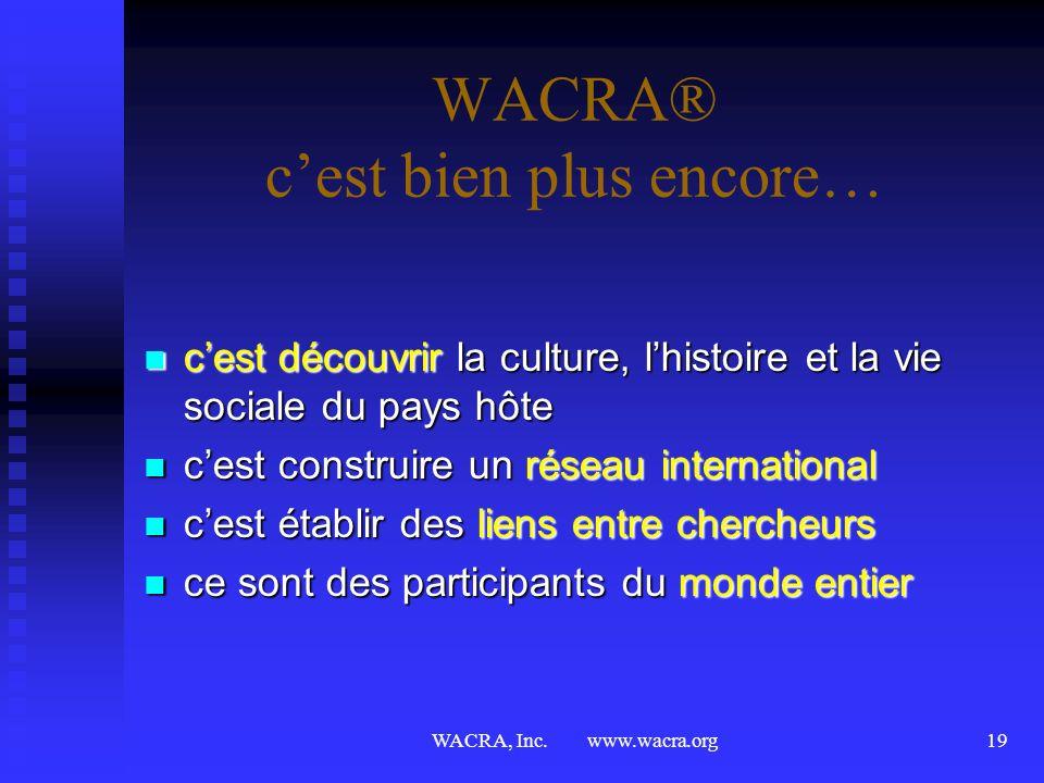 WACRA® c'est bien plus encore…