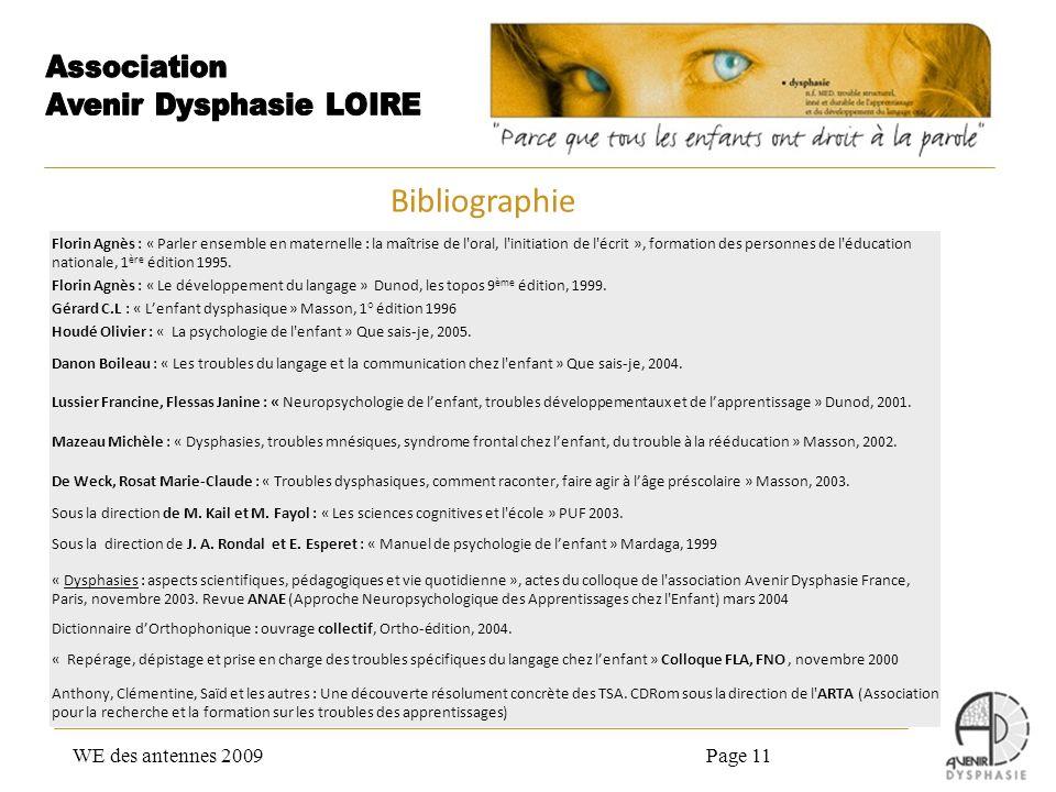 Bibliographie WE des antennes 2009 Page 11
