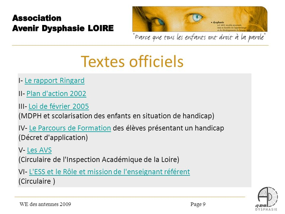 Textes officiels I- Le rapport Ringard II- Plan d action 2002