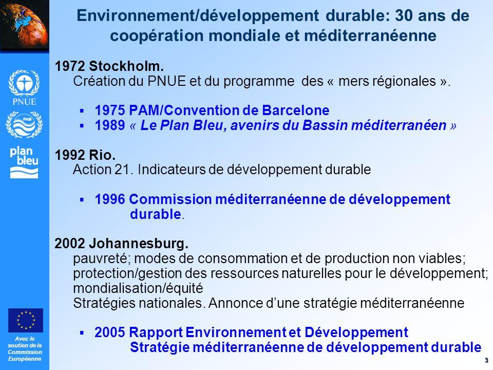 Environnement/développement durable: 30 ans de coopération mondiale et méditerranéenne