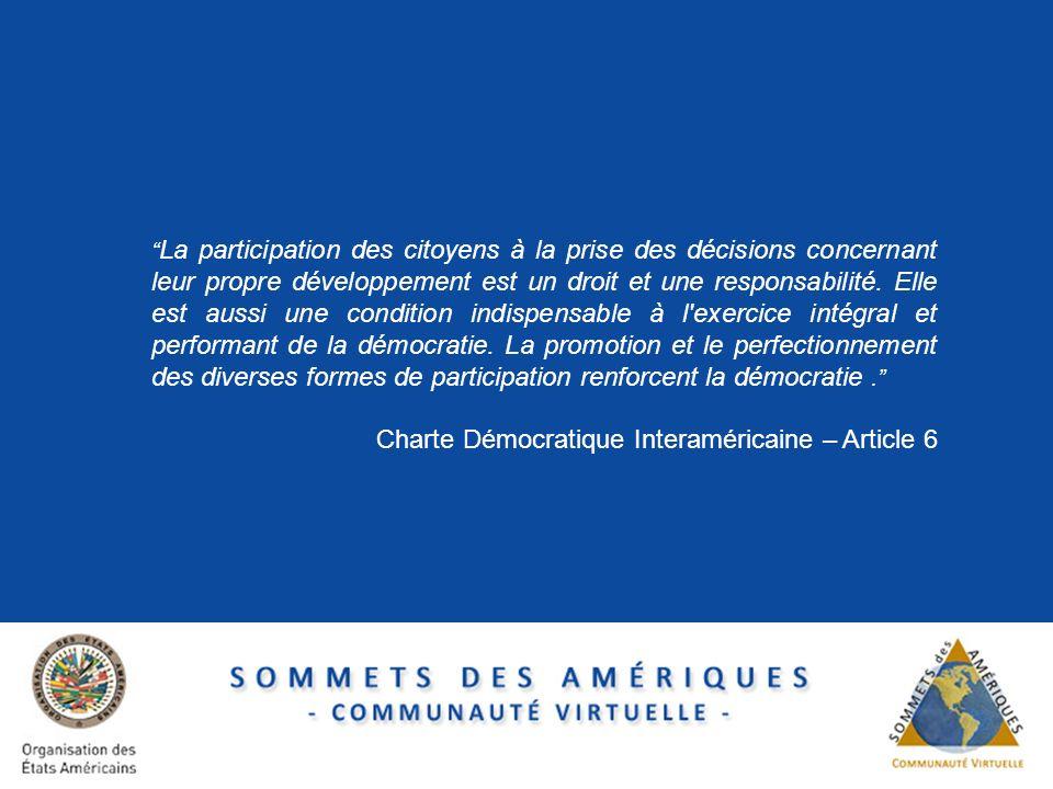 Charte Démocratique Interaméricaine – Article 6
