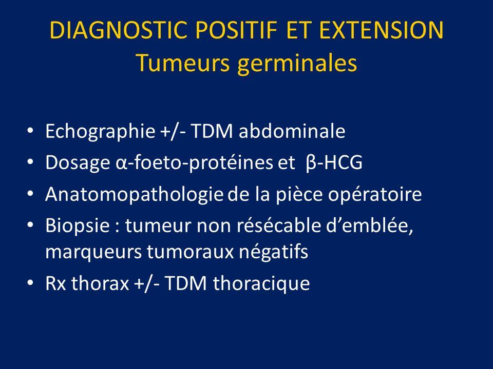 DIAGNOSTIC POSITIF ET EXTENSION Tumeurs germinales