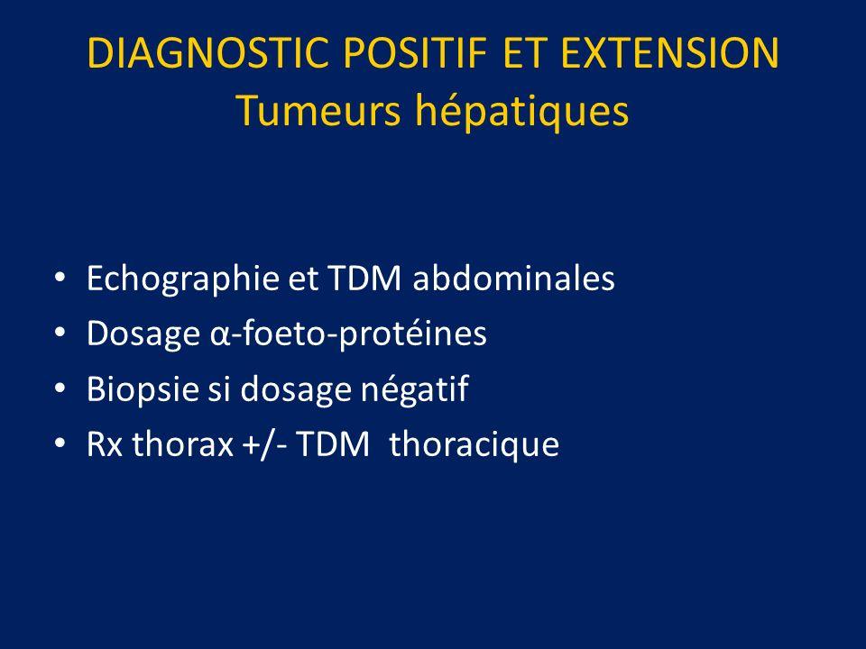 DIAGNOSTIC POSITIF ET EXTENSION Tumeurs hépatiques