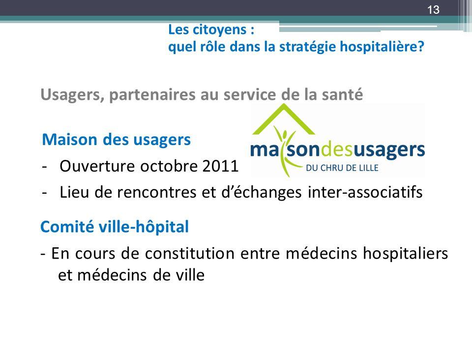Usagers, partenaires au service de la santé