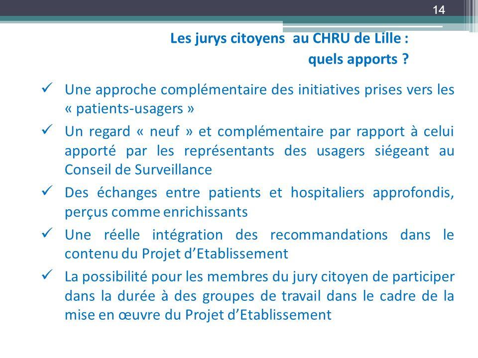 Les jurys citoyens au CHRU de Lille : quels apports
