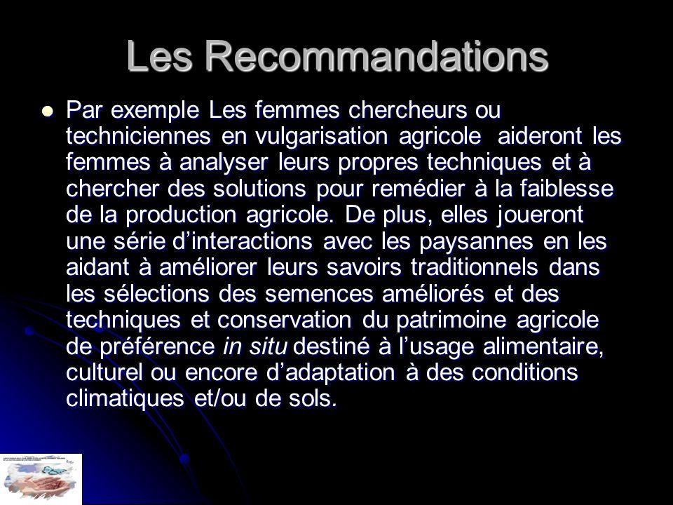 Les Recommandations
