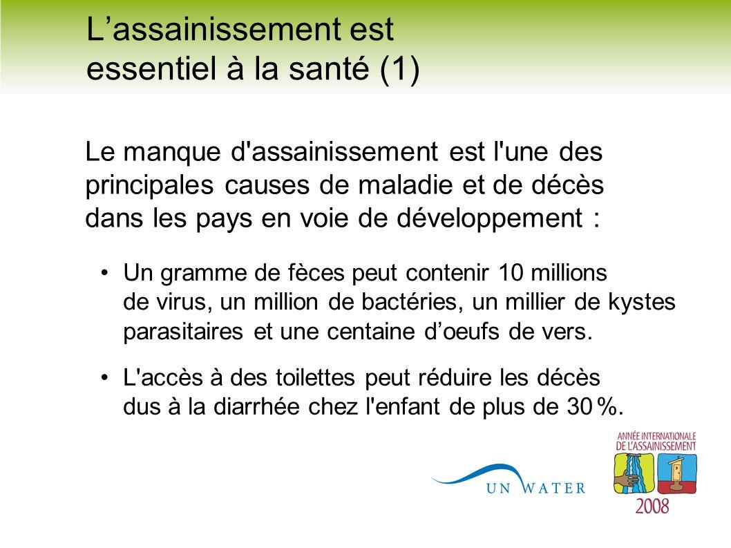 L'assainissement est essentiel à la santé (1)