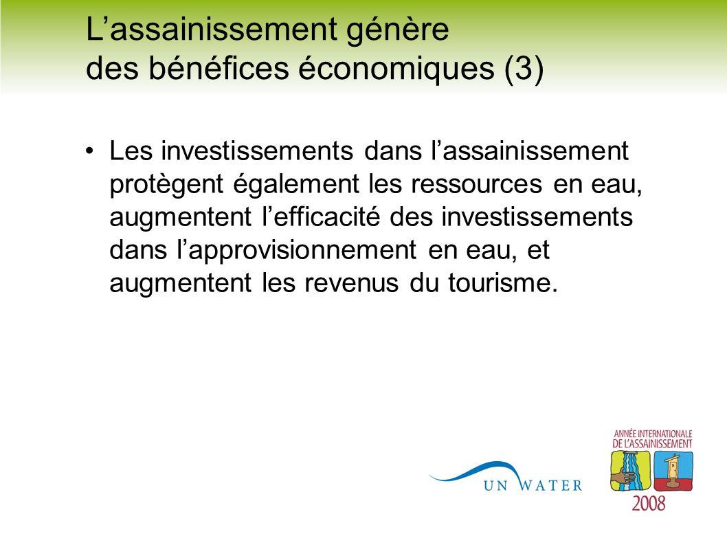 L'assainissement génère des bénéfices économiques (3)